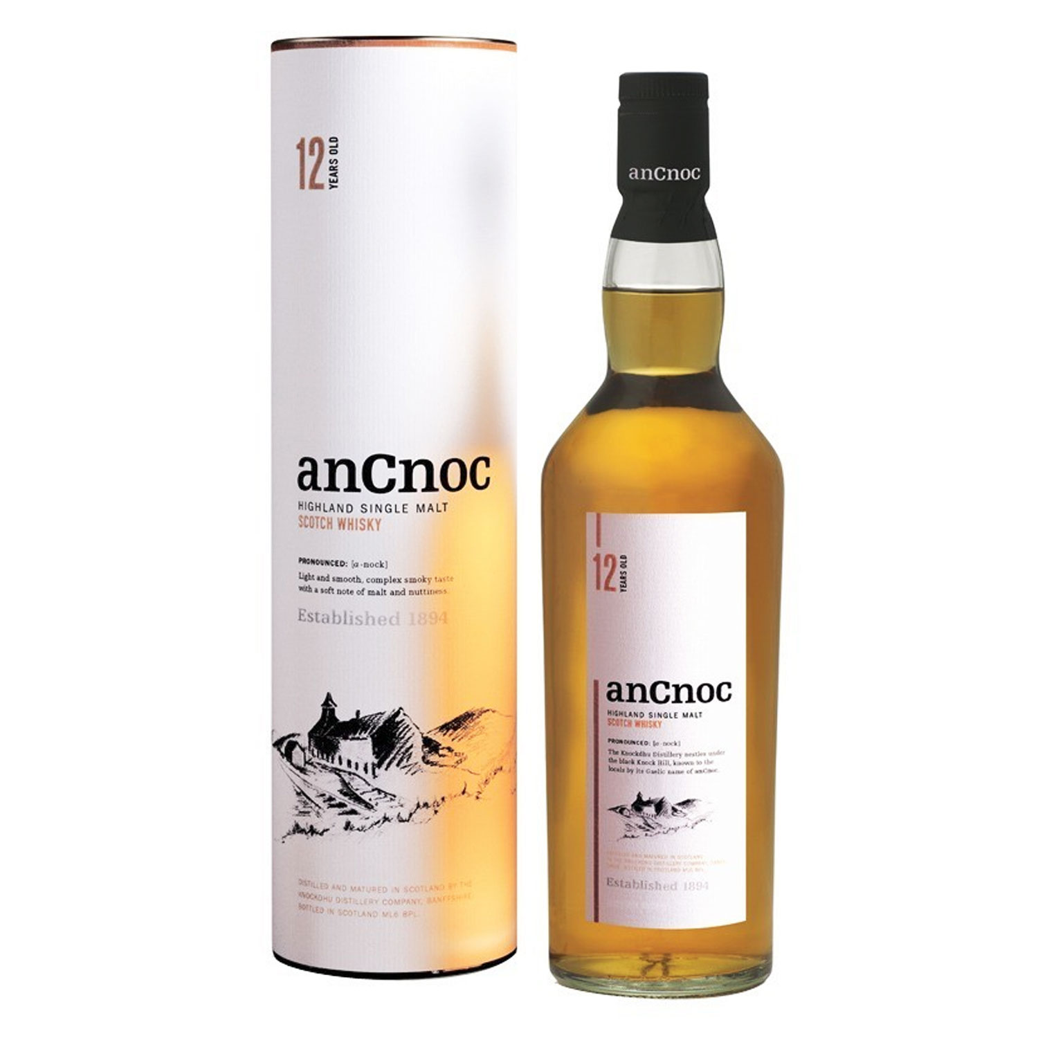 Whisky - anCnoc 12 ans - Single Malt - 40° - 70cl