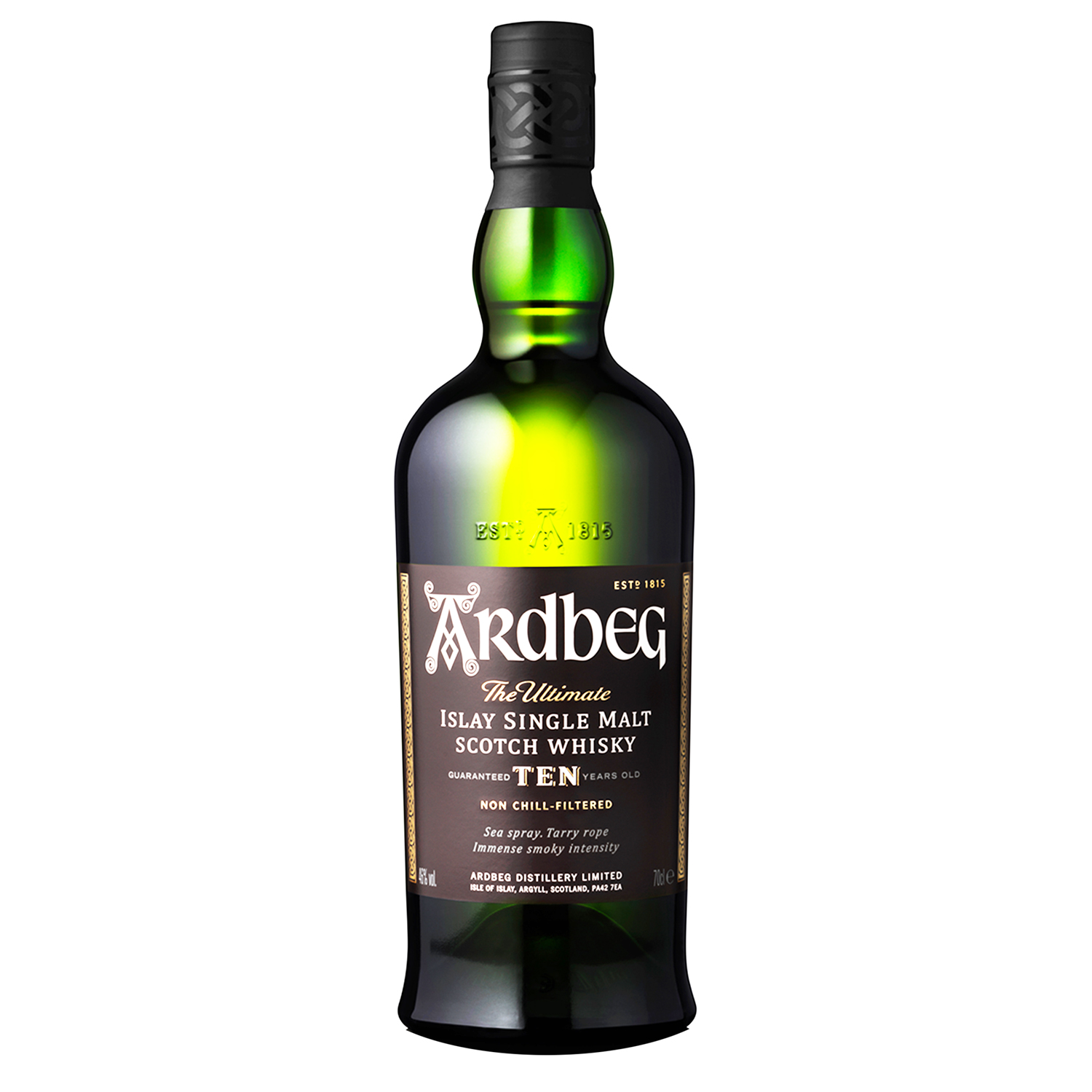 Whisky - Ardbeg 10 Years - Ecosse - Single Malt - Très Tourbé - 70cl - 46°