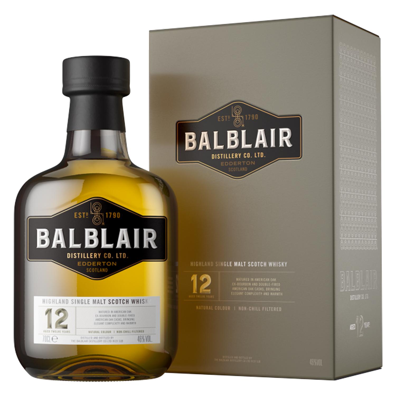 Whisky - Balblair 12 ans - Single Malt - 46° - 70cl