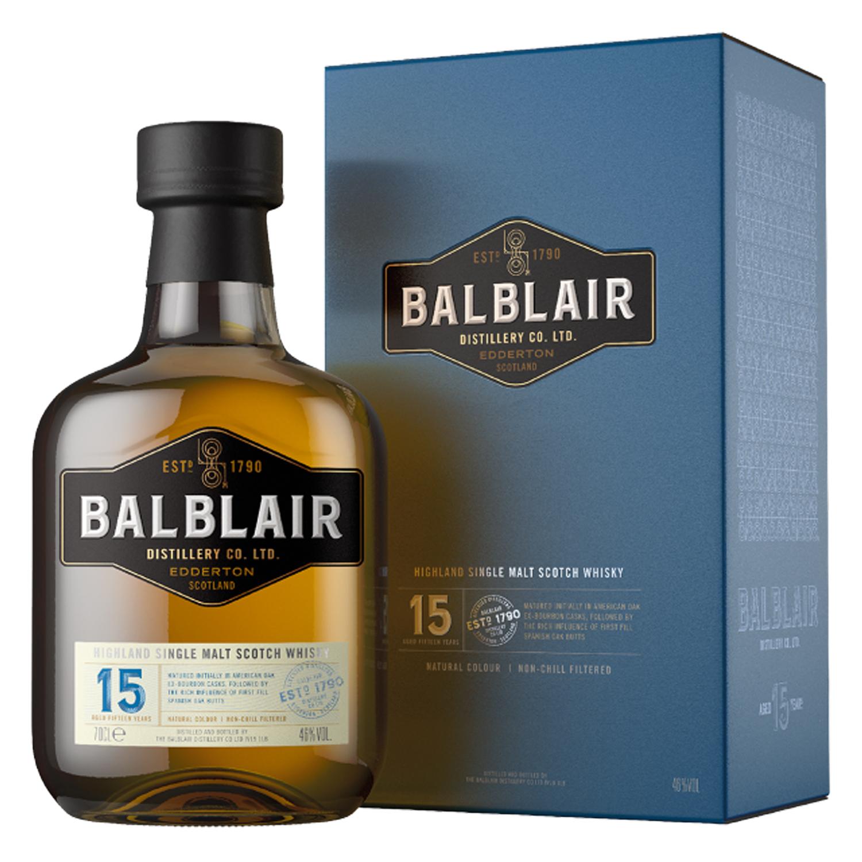 Whisky - Balblair 15 ans - Single Malt - 70cl - 46°