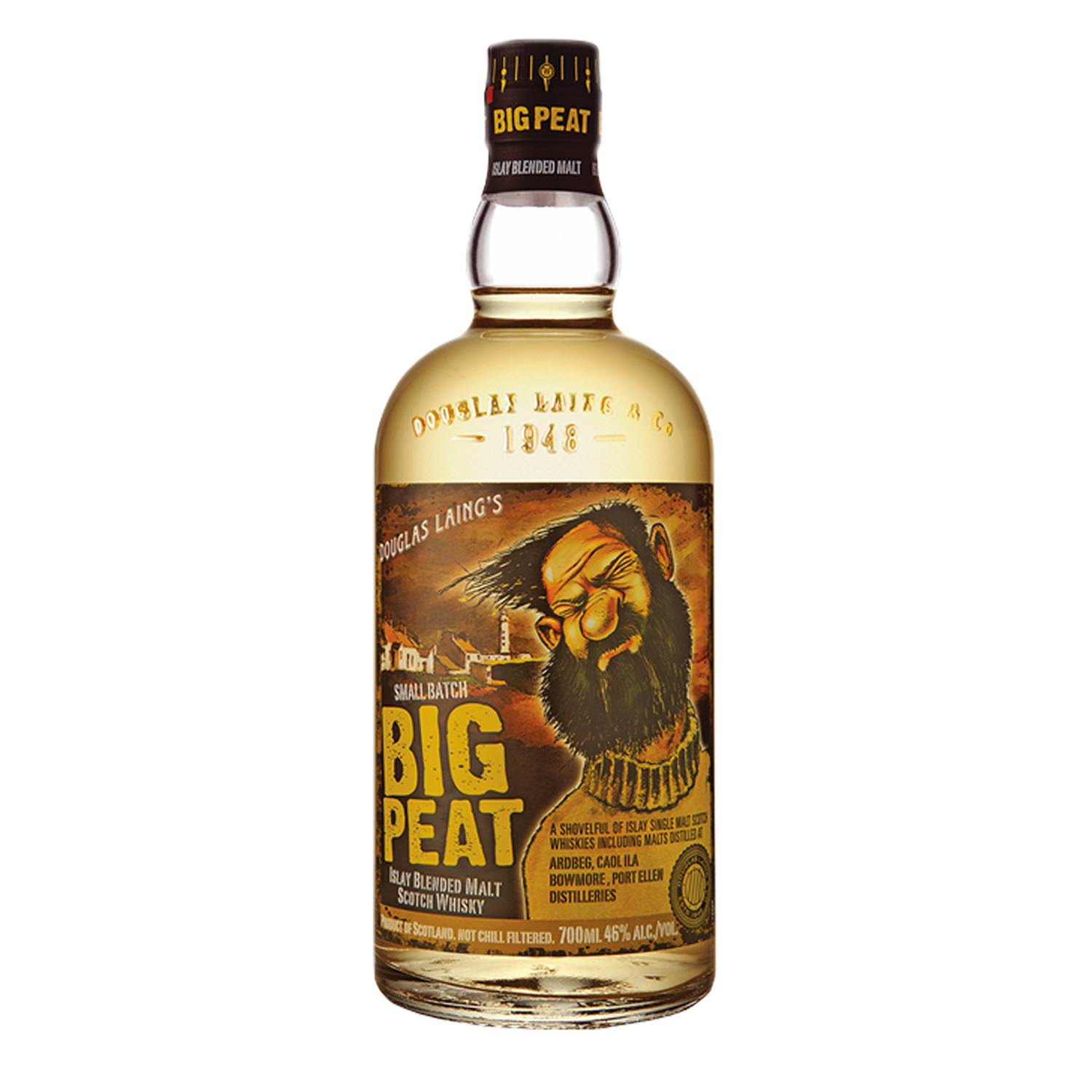 Whisky - Big Peat - Blended Malt - Tourbé - 70cl - 46°