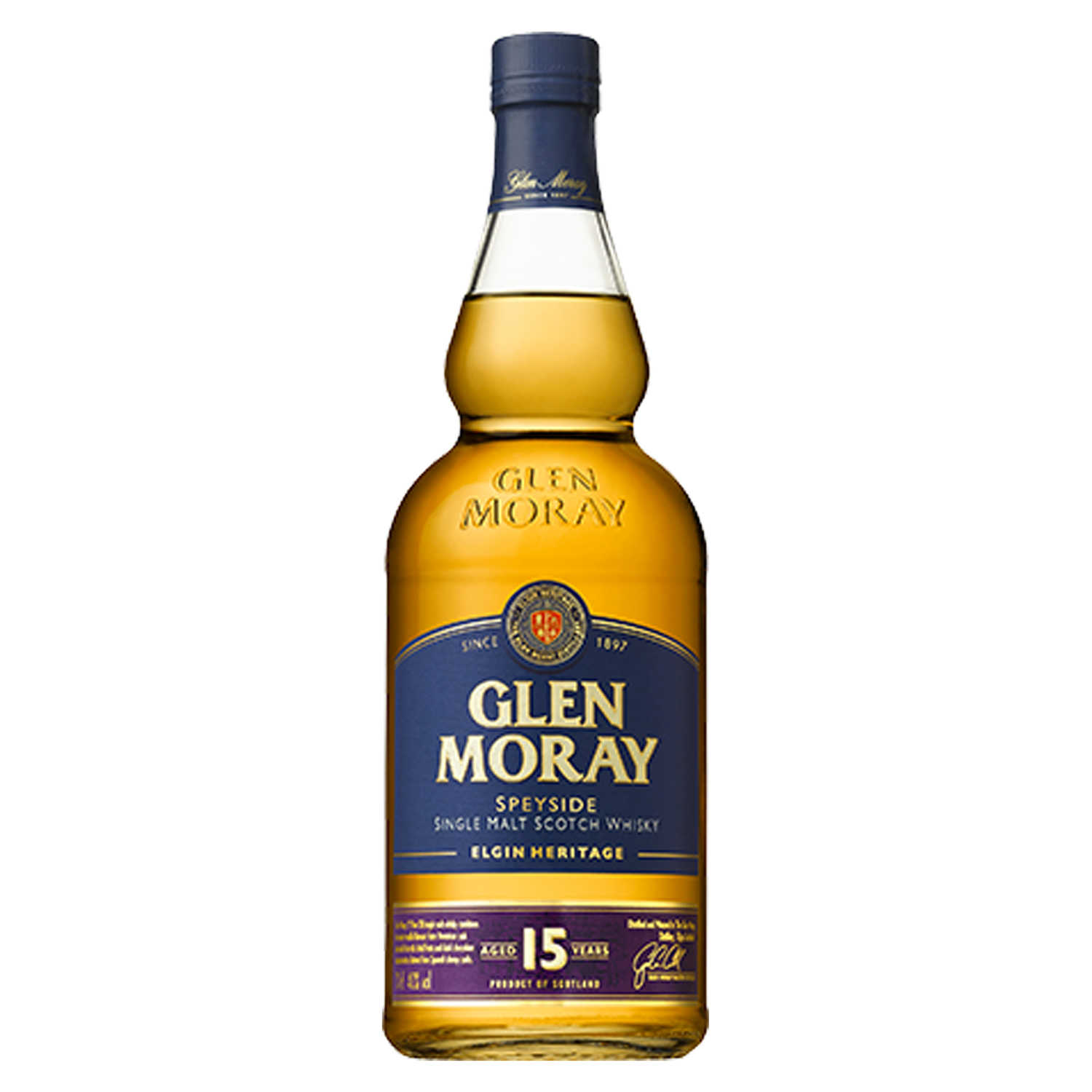 Whisky - Glen Moray - Single Malt - 15 Ans - Ecosse - 40°