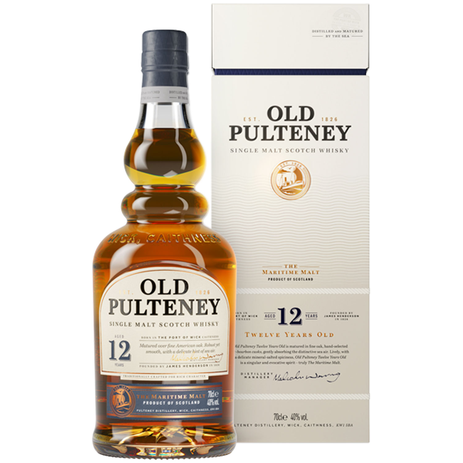 Whisky - Old Pulteney 12 ans - Single Malt - 70cl - 46°