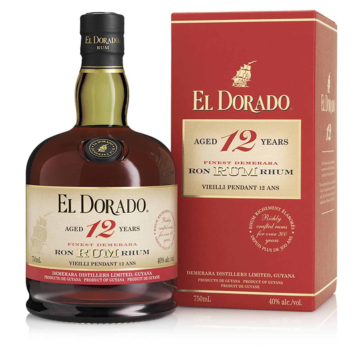 Rhum - El Dorado 12 ans - Guyane Anglaise - 70cl - 40°