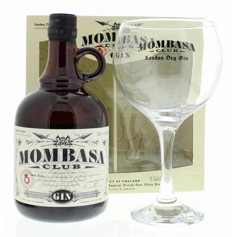 Gin - Mombasa - Coffret Mombasa Clu + 1 verre - Angleterre - 41,5° - 70cl