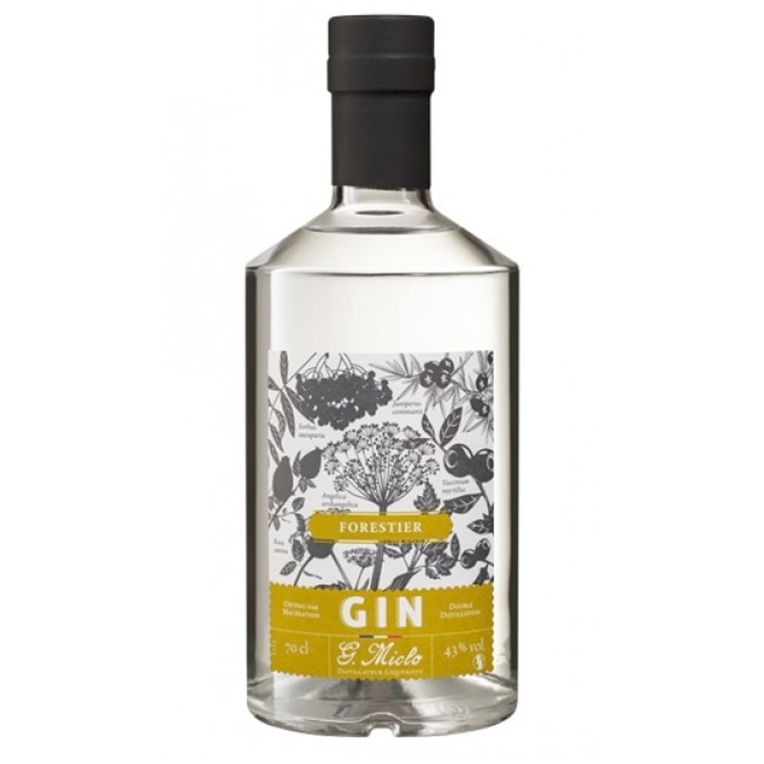 Gin - Miclo - Forestier - France - 43° - 70cl