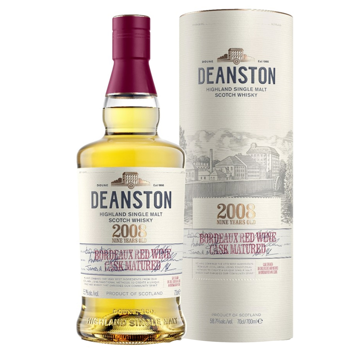 Whisky - Deanston - 2008 Bordeaux Red Wine Cask Maturated - 58,7° - 70 cl