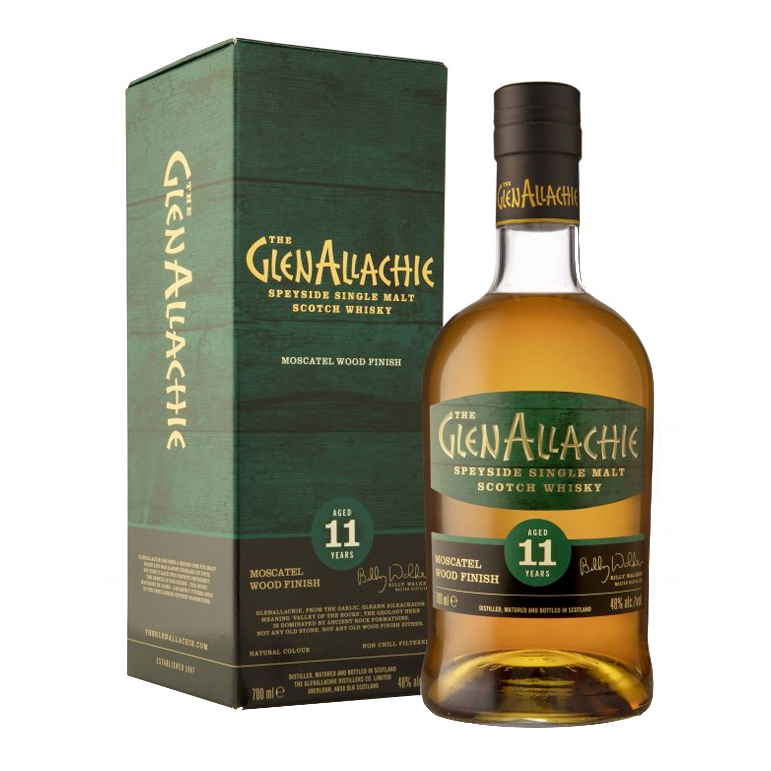 Whisky - GlenAllachie - 11 y Moscatel Wood Finish - Ecosse - Single Malt - Non Tourbé - 70 cl - 48°