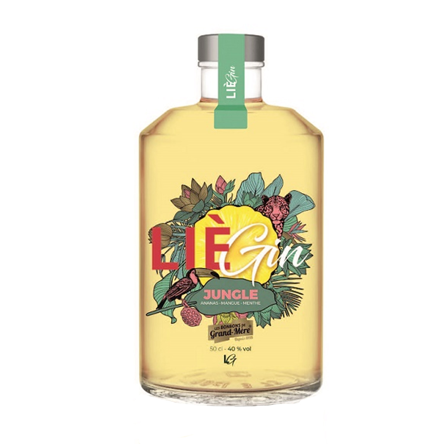 Gin - LieGin - Jungle - Belgique - 50 cl - 40° - Bio