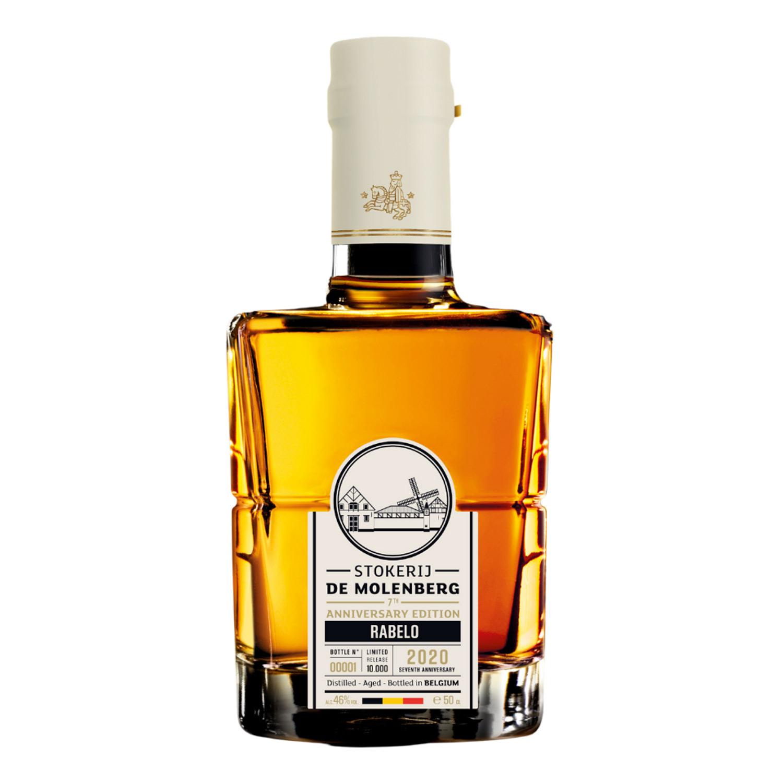 Whisky - Stokerij de Molenberg - 7th Anniversary Rabelo - Non tourbé - Belgique - 50 cl - 46°