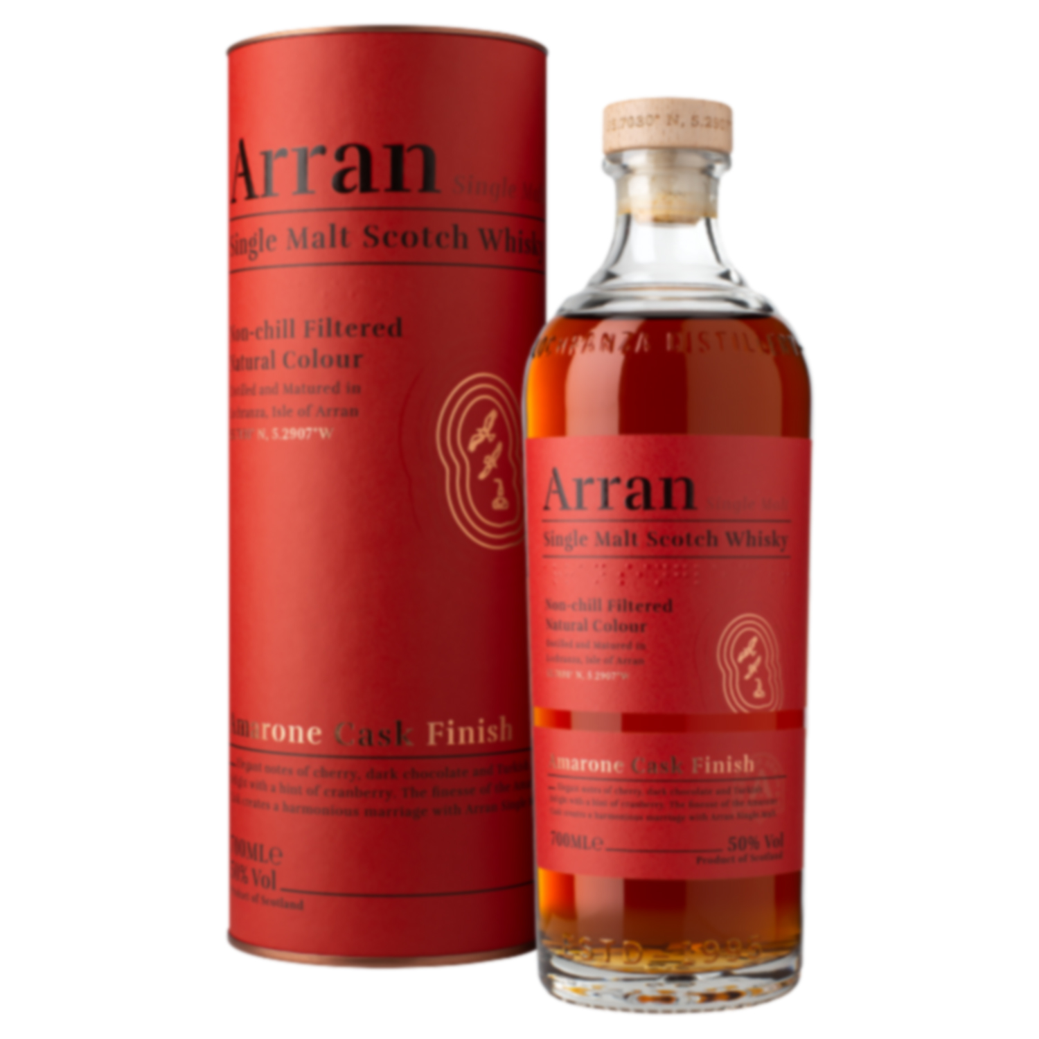 Whisky  - Arran - Amarone Cask Finish - Ecosse - Single Malt - Non Tourbé - 70 cl - 50°