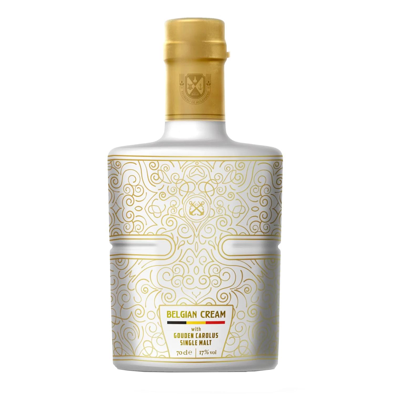 Liqueur - Belgian Cream with Gouden Carolus Single Malt - 70 cl - 17°