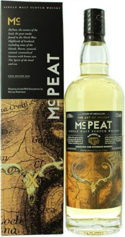 Whisky - House Of Mc Callum - MC Peat - Single Malt Scotch Whisky - Bourbon Barrels