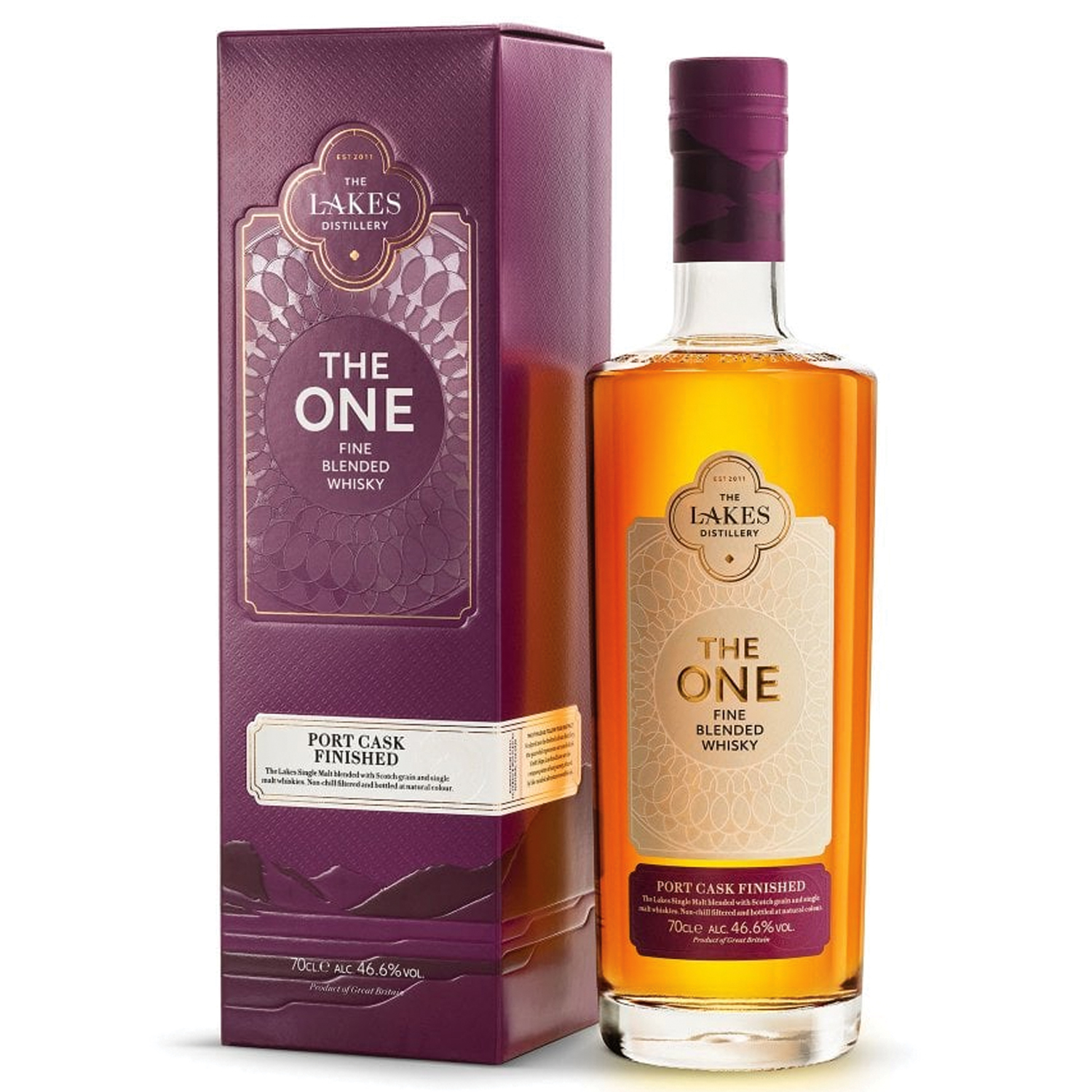Whisky - The Lakes - The One - Port Cask Finished - Fine Blended - Angleterre