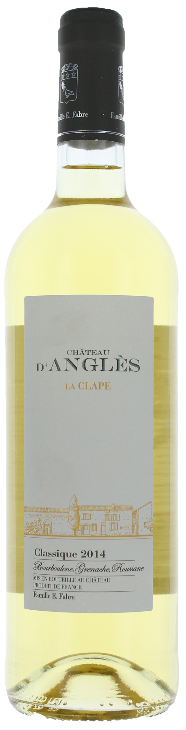 La Clape - Classique Blanc - Domaine d\'Angles  -  2017