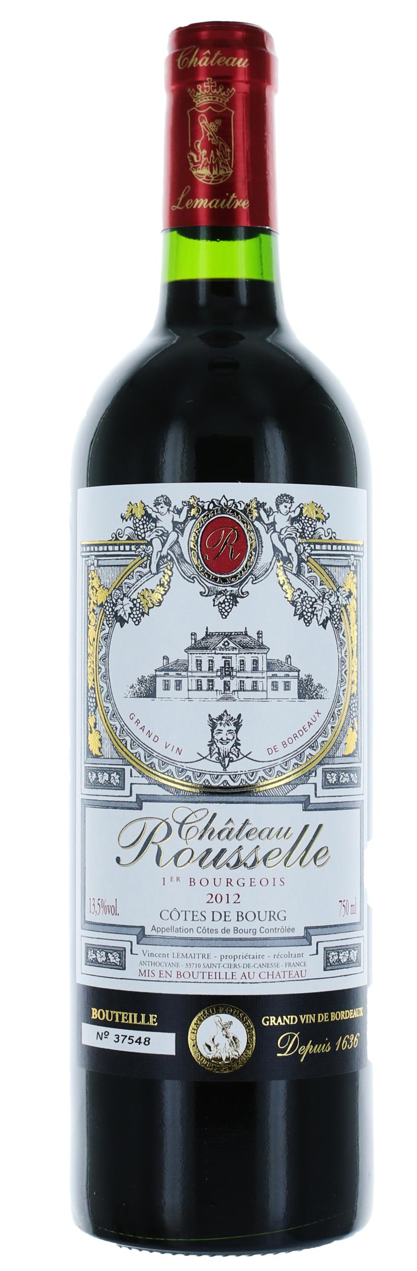 Côtes de Bourg - Château Rousselle - Vignobles Lemaitre - 2016 - 37,5cl