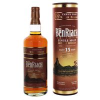 BENRIACH 15 ANS -TAWNY PORT WOOD FINISH - ECOSSE SPEYSIDE - SINGLE MALT - NON TOURBÉ - 70CL- 46°