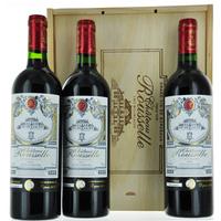 Coffret bois Bordeaux - Côtes de Bourg - Château Rousselle - 2012 - 3 bouteilles
