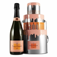 Anniversary Bucket Cake - Champagne Veuve Clicquot