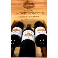 Coffret bois Bordeaux - Lalande de Pomerol - Croix des Moines - 2011 - 3 bouteilles