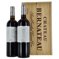 Coffret bois Bordeaux - Saint Emilion Grand Cru - Château Bernateau - 2014 - 2 bouteilles