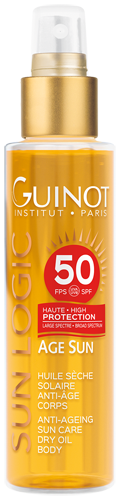 Âge Sun - Huile sèche solaire anti-âge corps SPF50