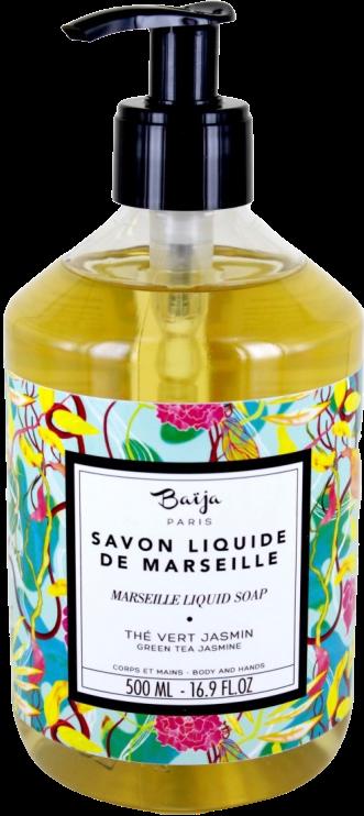 Savon liquide de Marseille Baija - Thé vert et Jasmin - Croisière Céladon