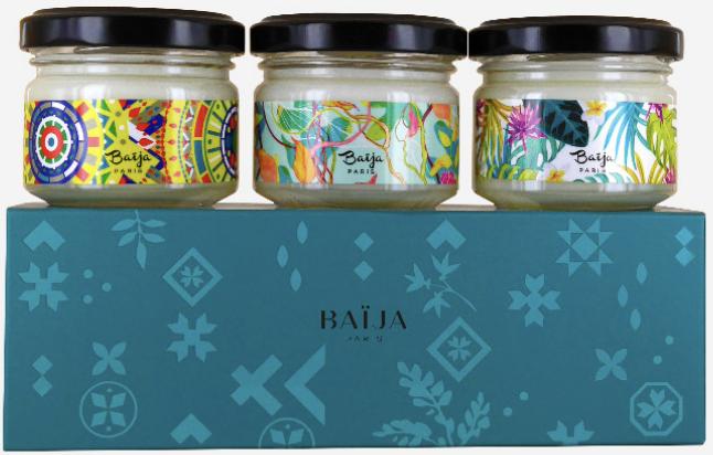 Coffret trio bougies Baija - Blue Mood