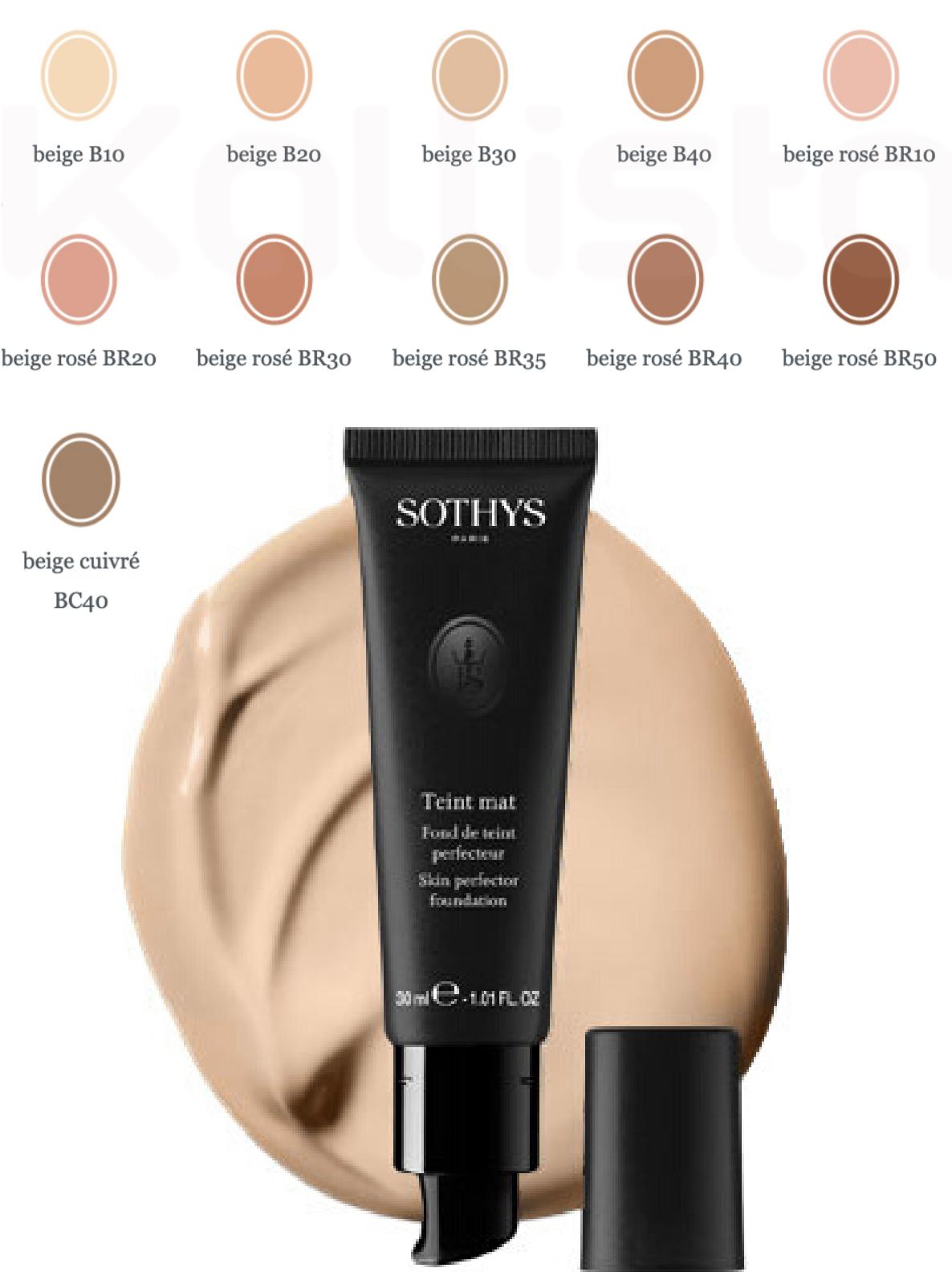 Sothys teint Mat : Fond de teint 100% matifiant
