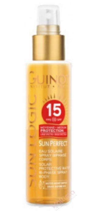 Sun Perfect Eau solaire spray biphasé corps SPF15 - Moyenne protection