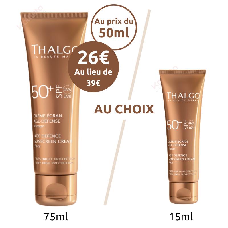 Crème Écran Solaire Age Défense SPF50 Thalgo
