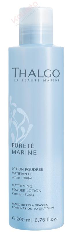 Lotion Poudrée Matifiante Thalgo : affine, unifie, peaux mixtes à grasses - Pureté marine