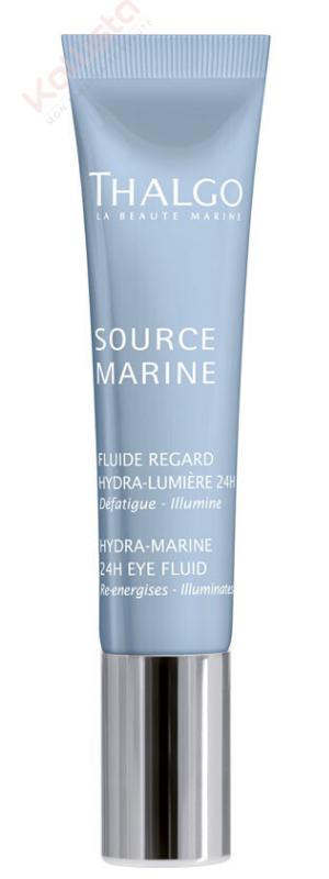 Fluide Regard Hydra Lumière 24H Thalgo : défatigue et illumine - Source marine