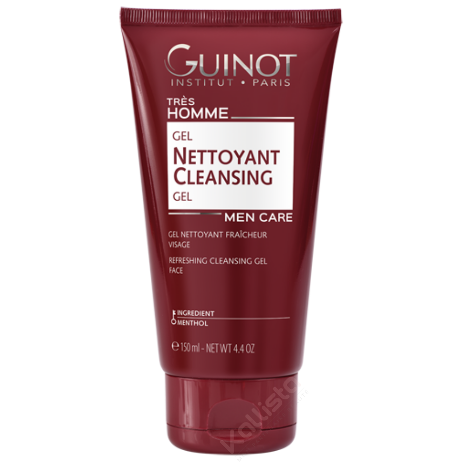 Gel nettoyant fraîcheur visage Homme Guinot - Nettoyant douceur express