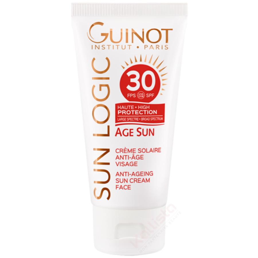 Âge Sun SPF30 Guinot - Crème solaire anti-âge visage - Sun Logic