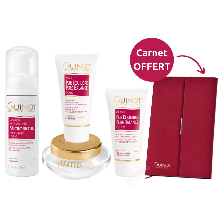 Pack Pureté Guinot : Mousse Microbiotic, Masque, Crème au choix