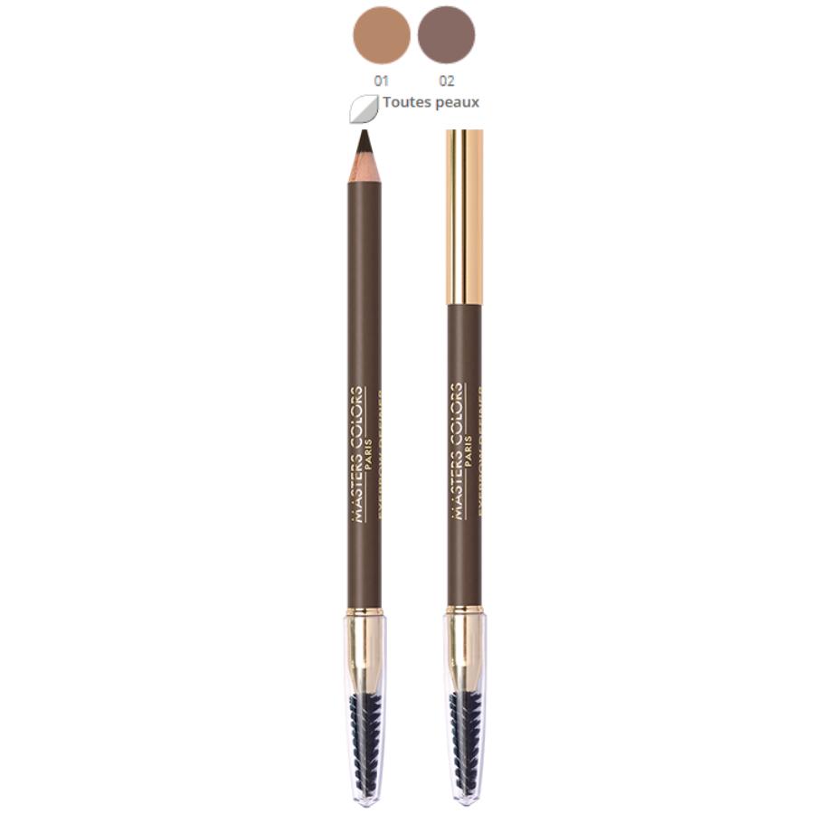 Crayon sourcils Masters Colors - crayon avec brosse : Eyebrow definer, 2 teintes au choix