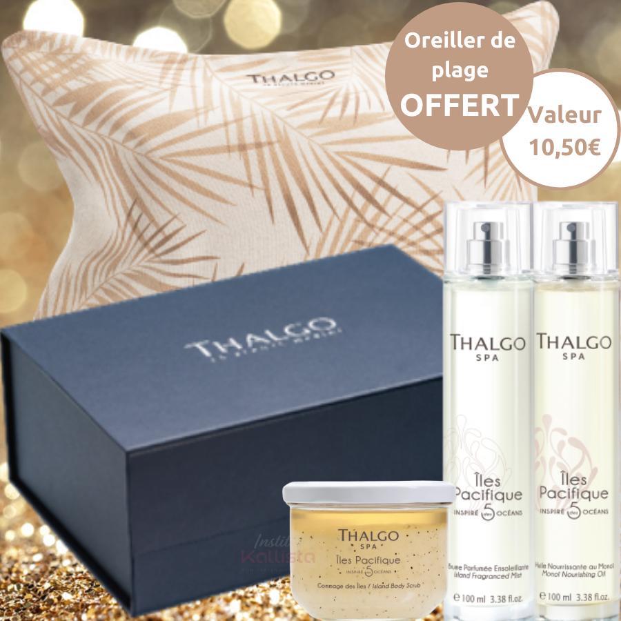 Trio de produits Thalgo Pacifique - Gommage, huile, brume et oreiller de plage offert