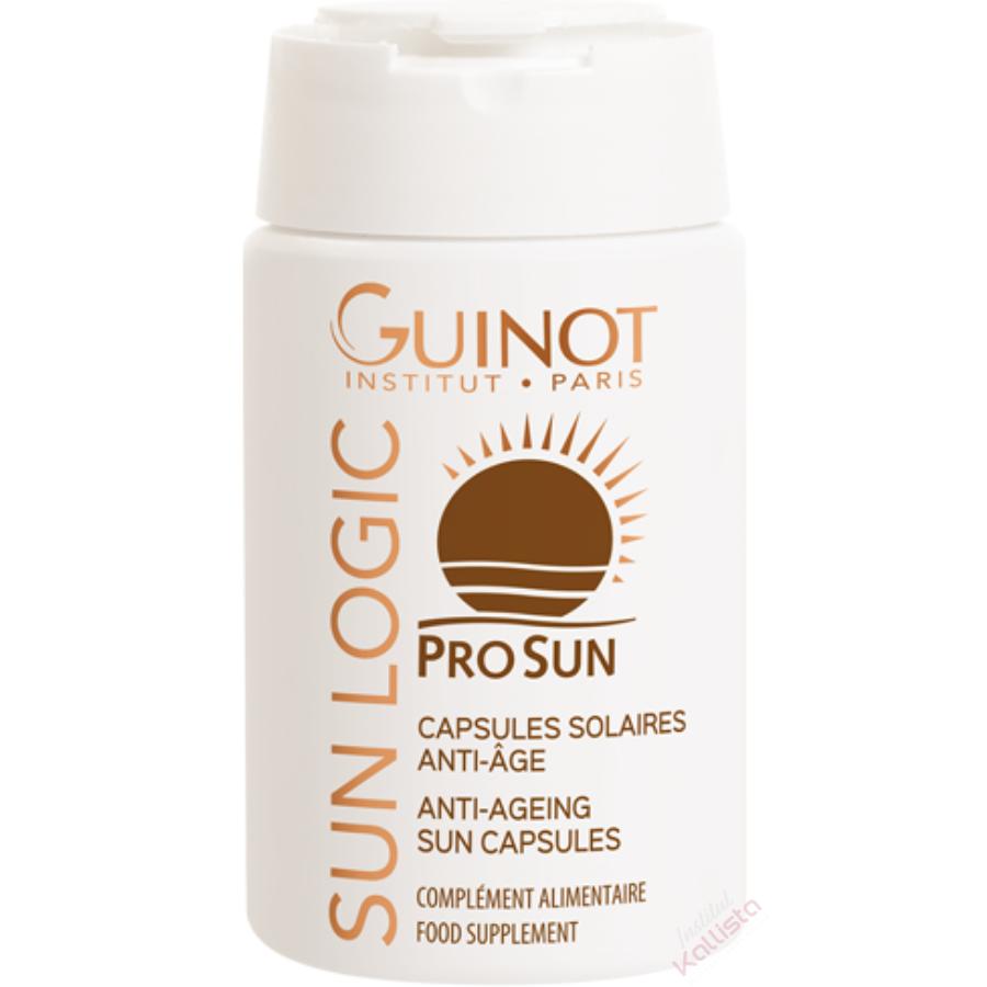 Capsules solaires anti-âge Guinot Sun Logic - Protéger, prolonger, intensifier le bronzage