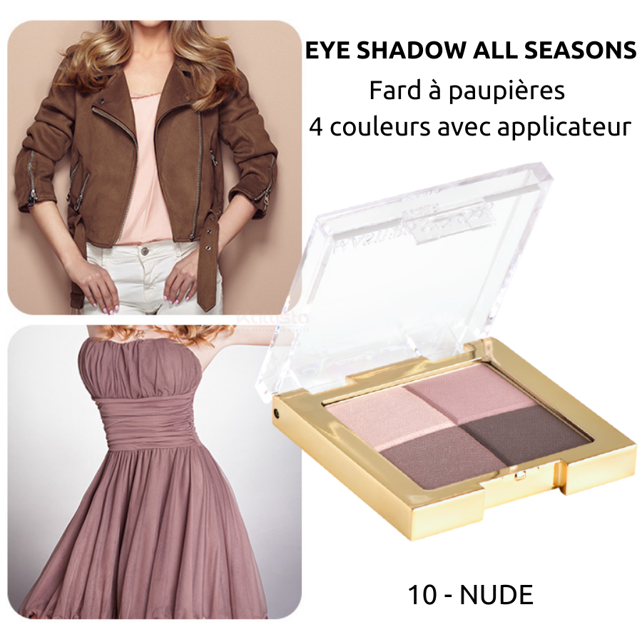 Fard à paupières 4 couleurs : Eye shadow all seasons - Masters Colors - 10 Nude