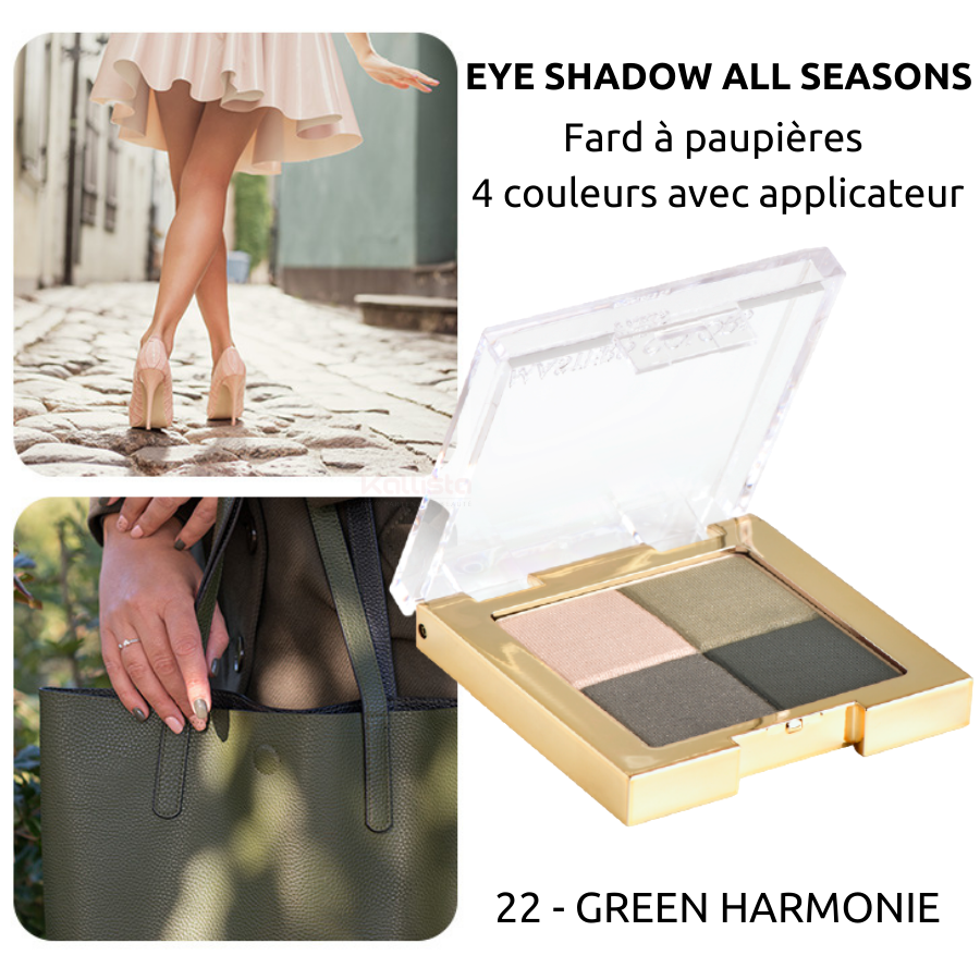 Fard à paupières 4 couleurs : Eye shadow all seasons - Masters Colors - 22 Green Harmonie