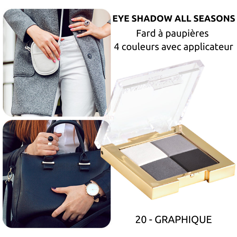 Fard à paupières 4 couleurs : Eye shadow all seasons - Masters Colors - 20 Graphique