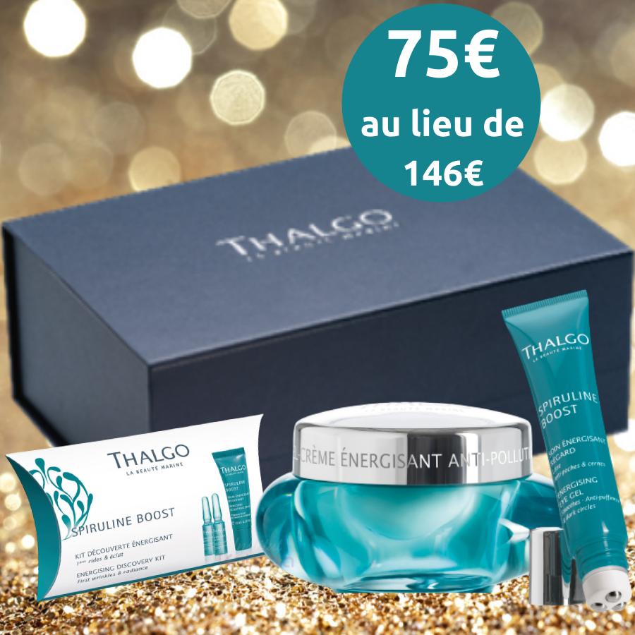 Coffret Thalgo - Peaux ternes - Spiruline Boost - 4 produits visage