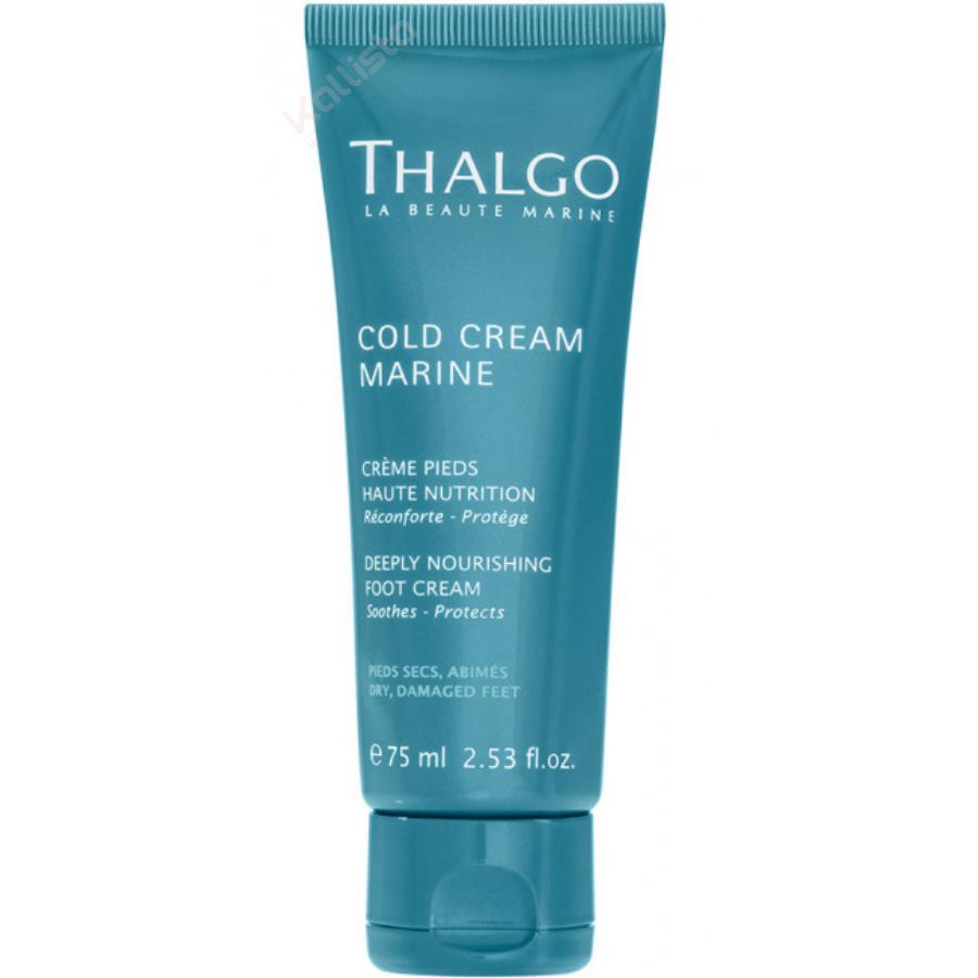 Crème Pieds Haute Nutrition Thalgo : réconforte, protège, peaux sèches, très sèches - Cold cream marine