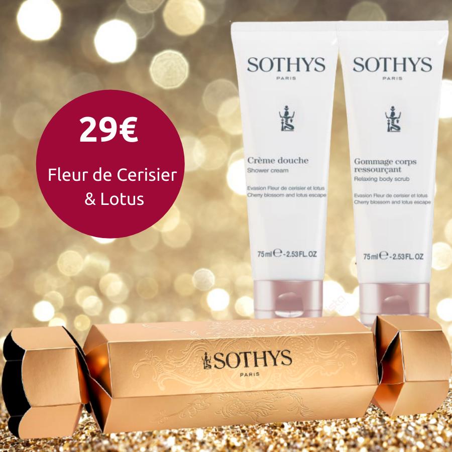 Cracker Corps Sothys - Cerisier et Lotus - Crème de Douche 75ml & Gommage ressourçant 75ml