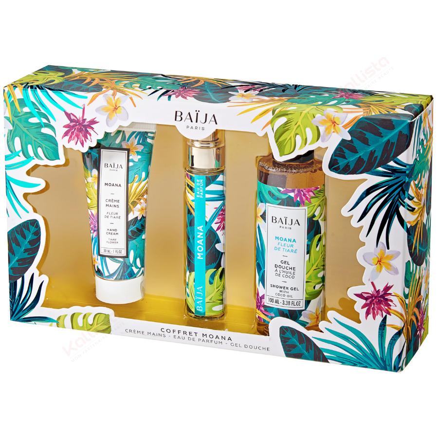 Baija Coffret Parfumé MOANA - 3 produits Fleur de Tiaré