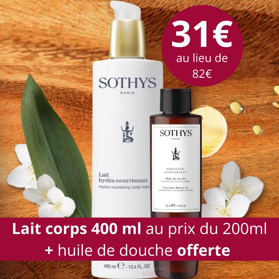 Lait corps Sothys hydra-nourrissant - hydratation et nutrition