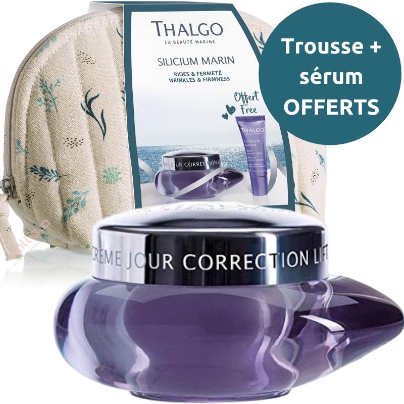 Crème jour correction lift Thalgo : Raffermit, remodèle, peaux normales à mixtes - Silicium marin