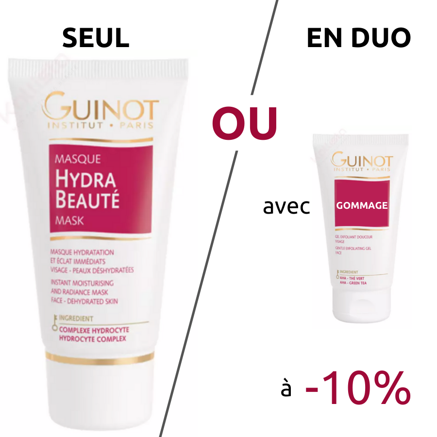Masque Hydra Beauté Guinot - Masque hydratant et booster d\'éclat