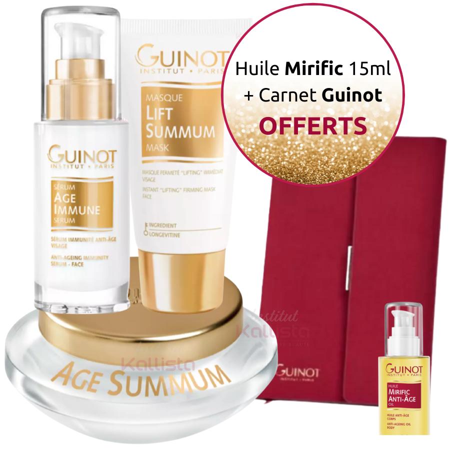Pack Prestige Guinot Trio de Crème Âge Summum, Sérum Âge Immune et Masque Lift Summum